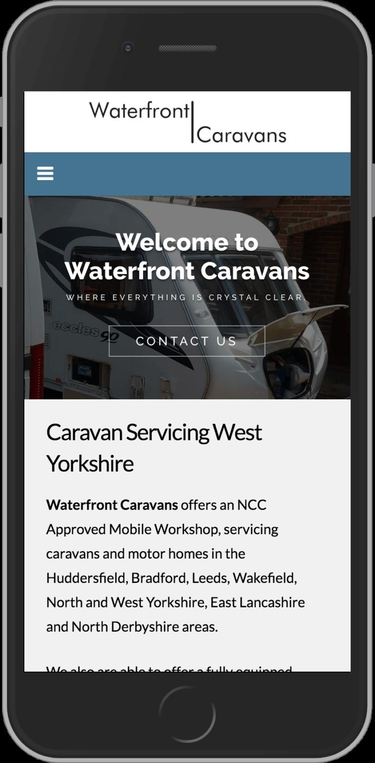 WordPress Design for Waterfront Caravans
