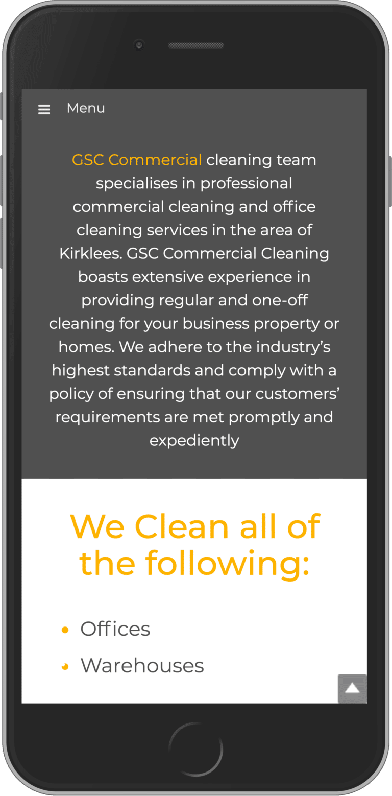 Bespoke WordPress Website for GSC Commercial Cleaning