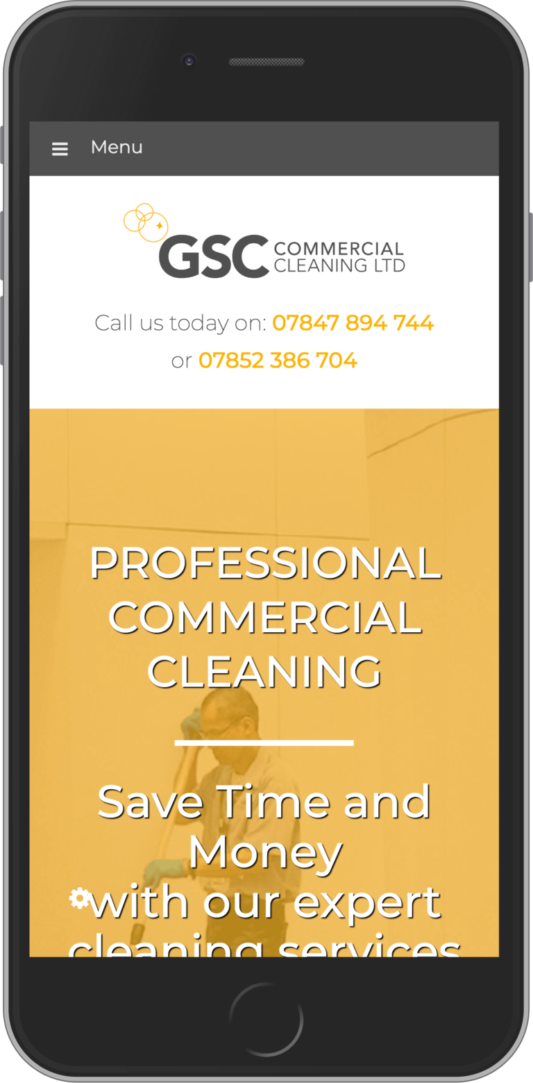 WordPress Design for GSC Commercial Cleaning