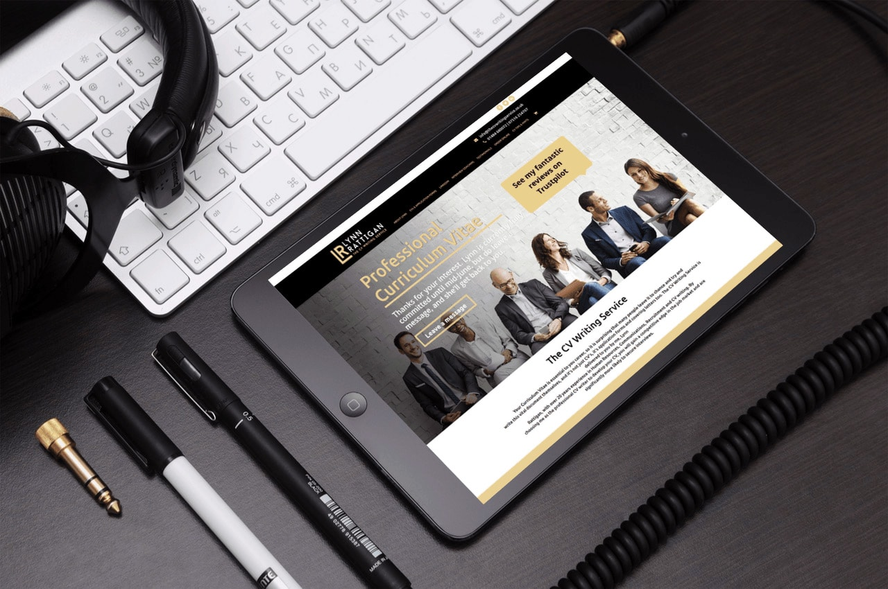 Website Design for The CV Writing Services