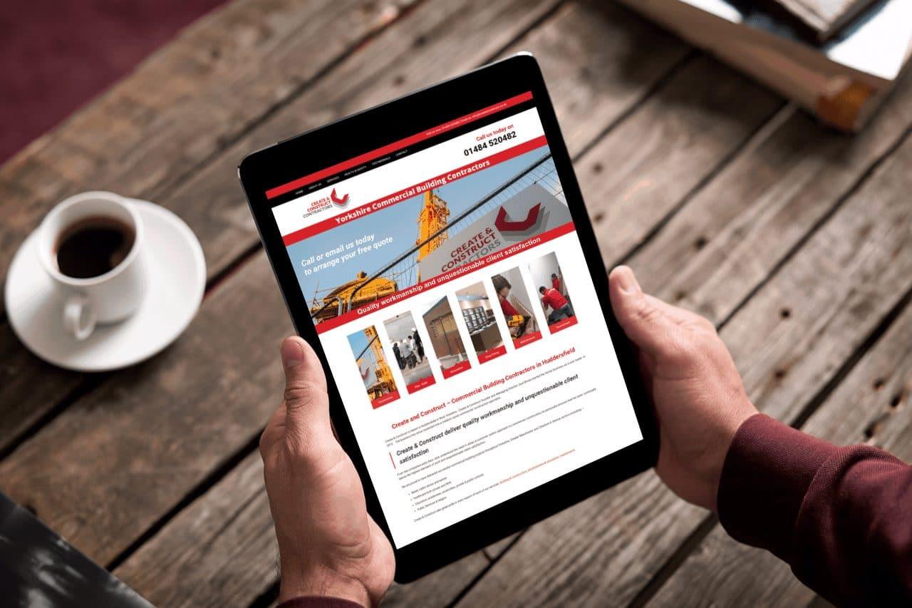 Website Design for Create Construct Contractors