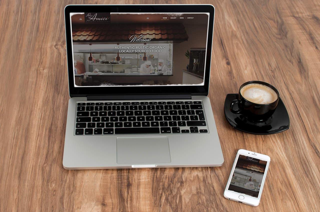 Website Design for Due Amici