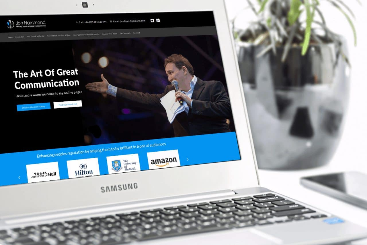 Website Design for Jon Hammond