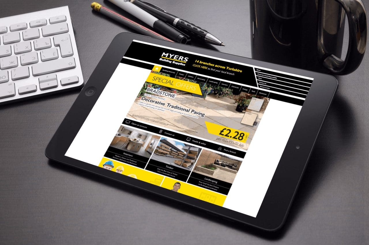 Website Design for Myers Building Supplies