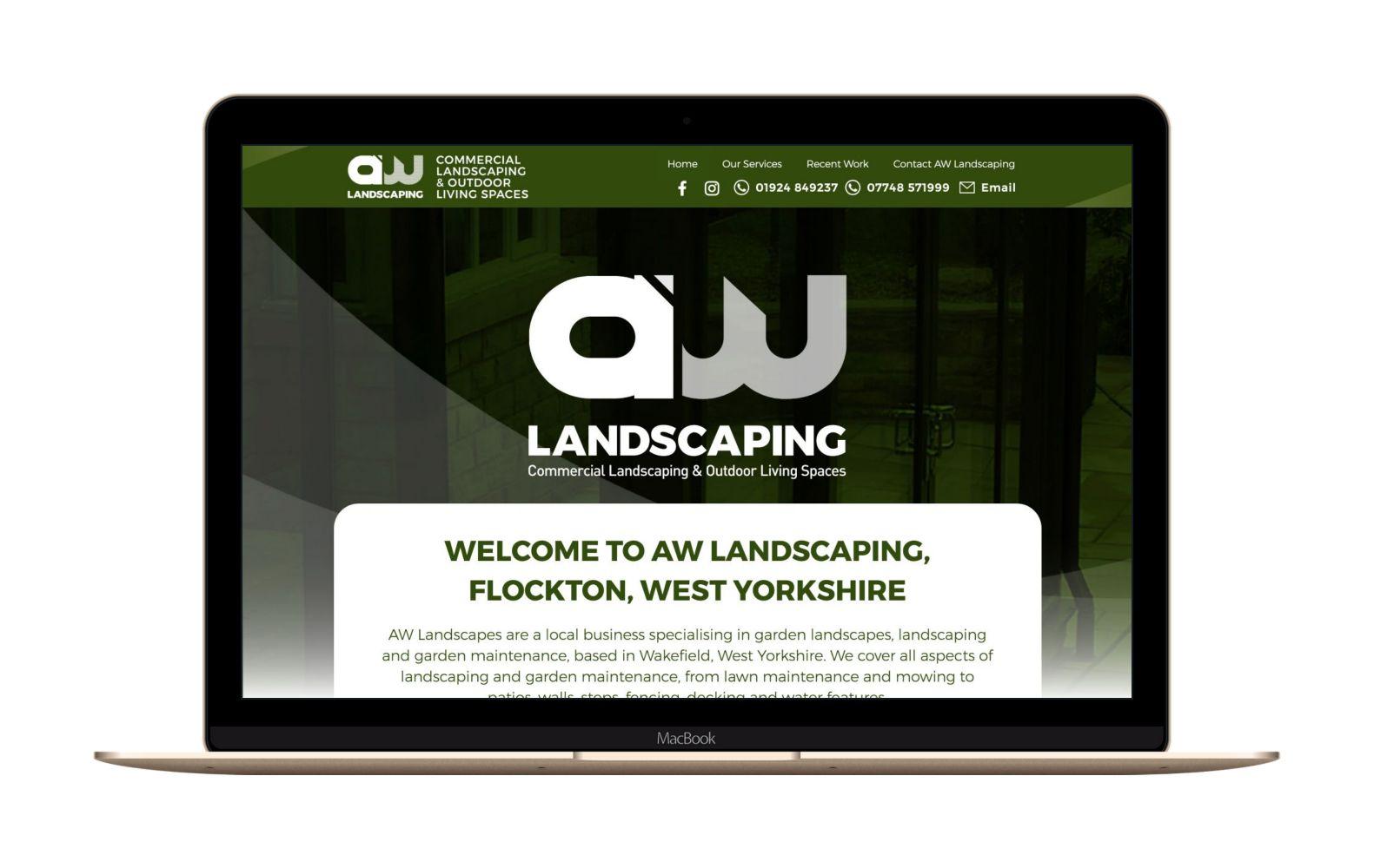 Website Design for AW Landscaping