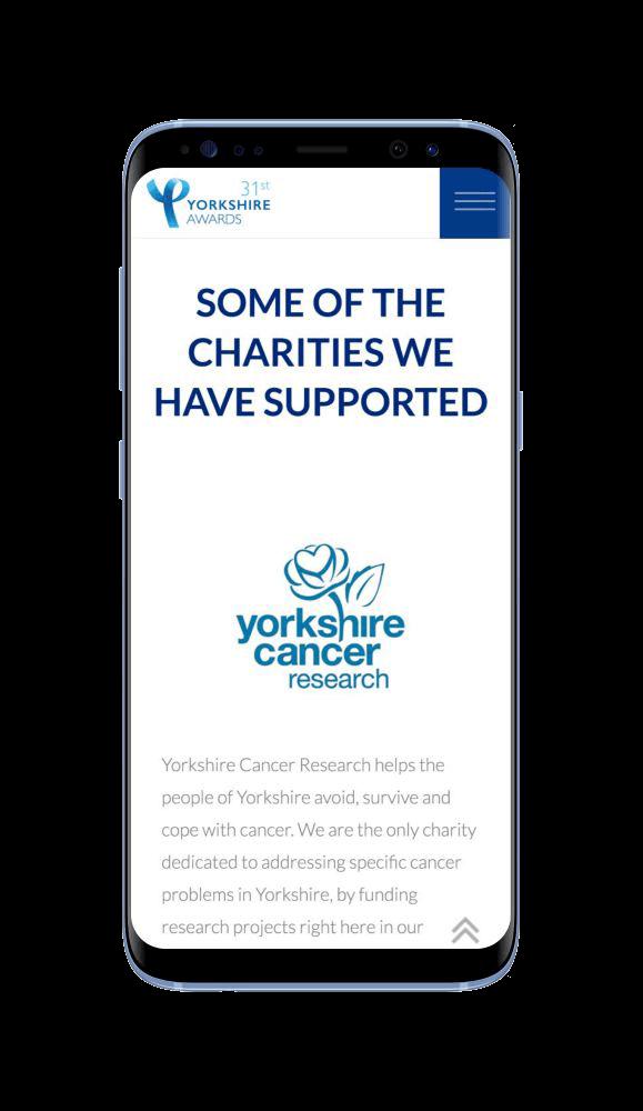 Bespoke WordPress Website for Yorkshire Awards