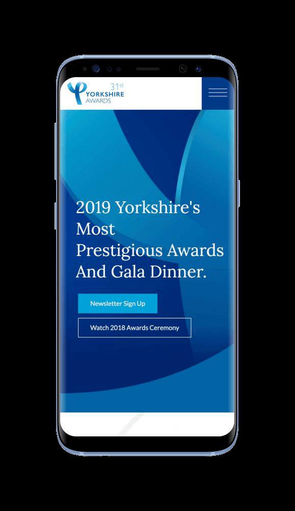 WordPress Design for Yorkshire Awards