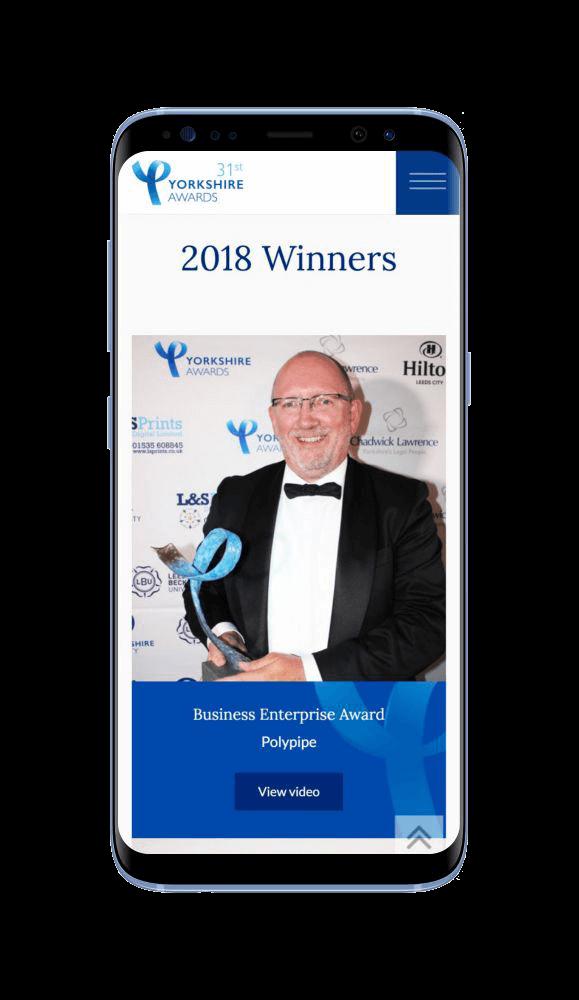 WordPress Developement for Yorkshire Awards