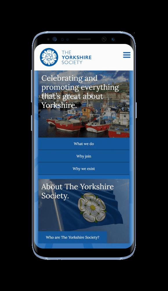 WordPress Design for The Yorkshire Society