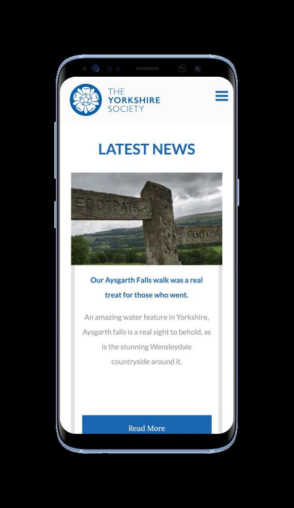 Bespoke WordPress Website for The Yorkshire Society