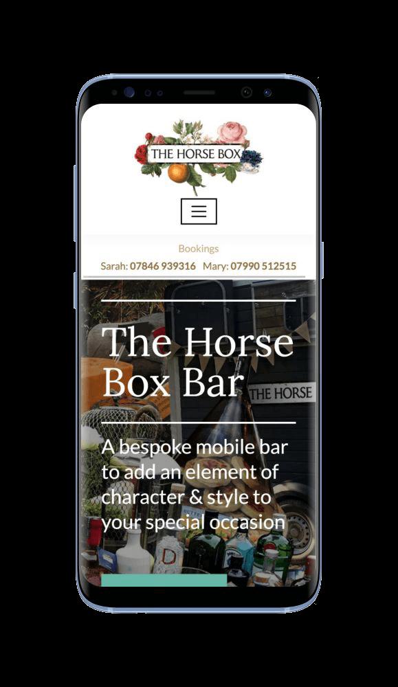 WordPress Design for The Horse Box Bar