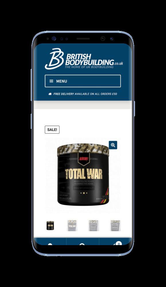 Bespoke WordPress Website for British Bodybuilding