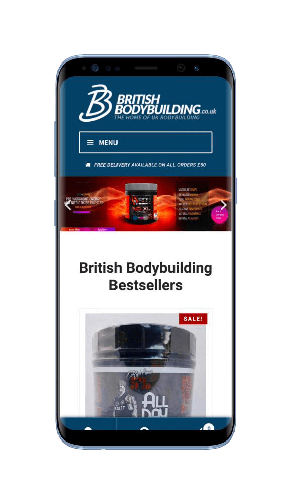 WordPress Design for British Bodybuilding