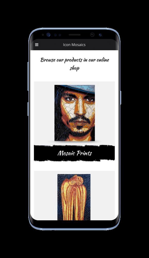 WordPress Design for Icon Mosaics