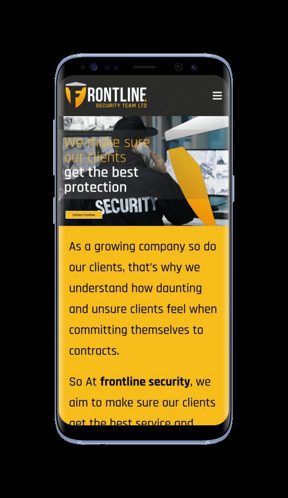 WordPress Design for Frontline Security