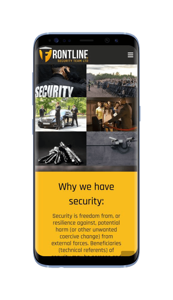 Bespoke WordPress Website for Frontline Security