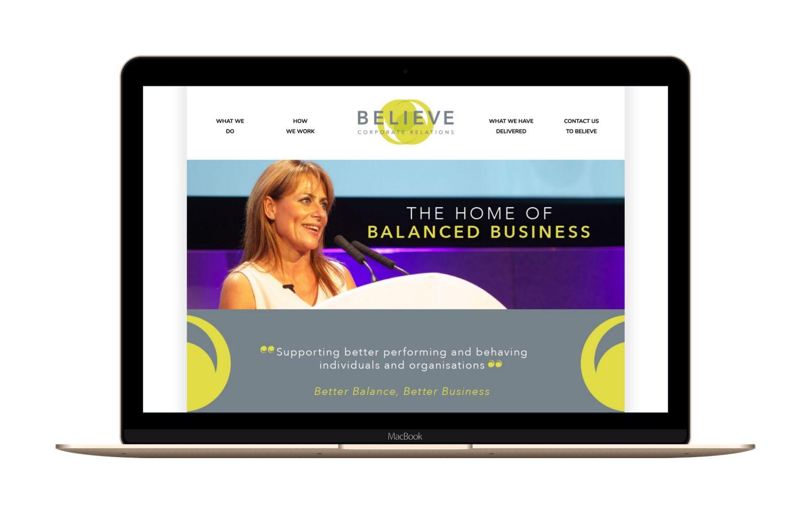 Website Design for Believe UK