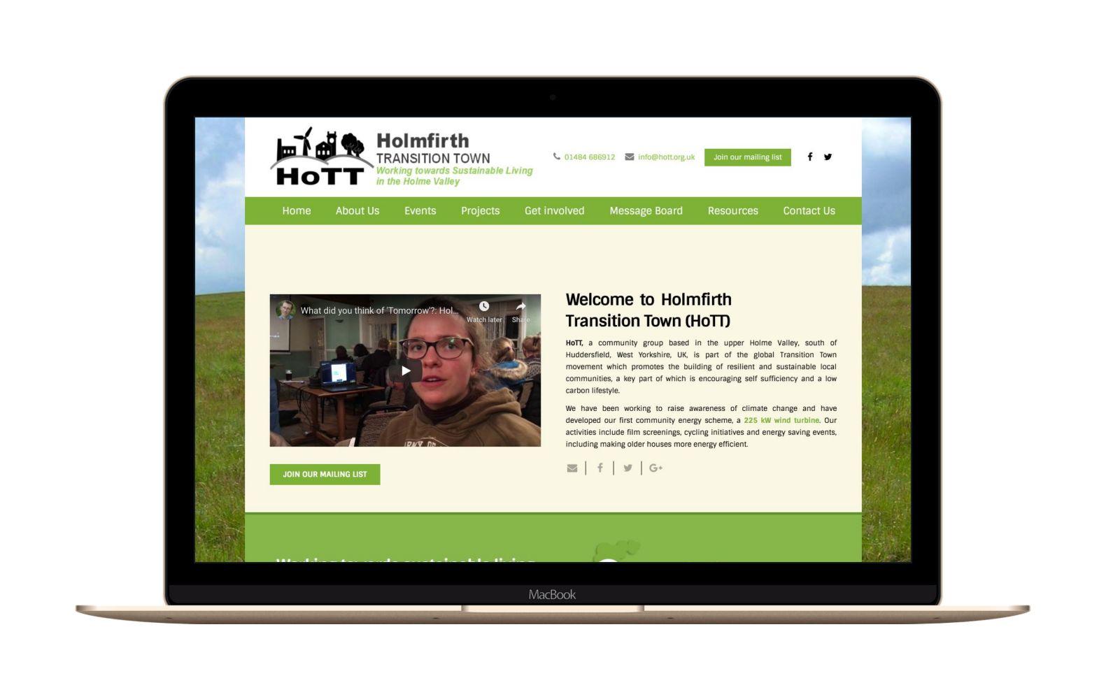 Website Design for HOTT