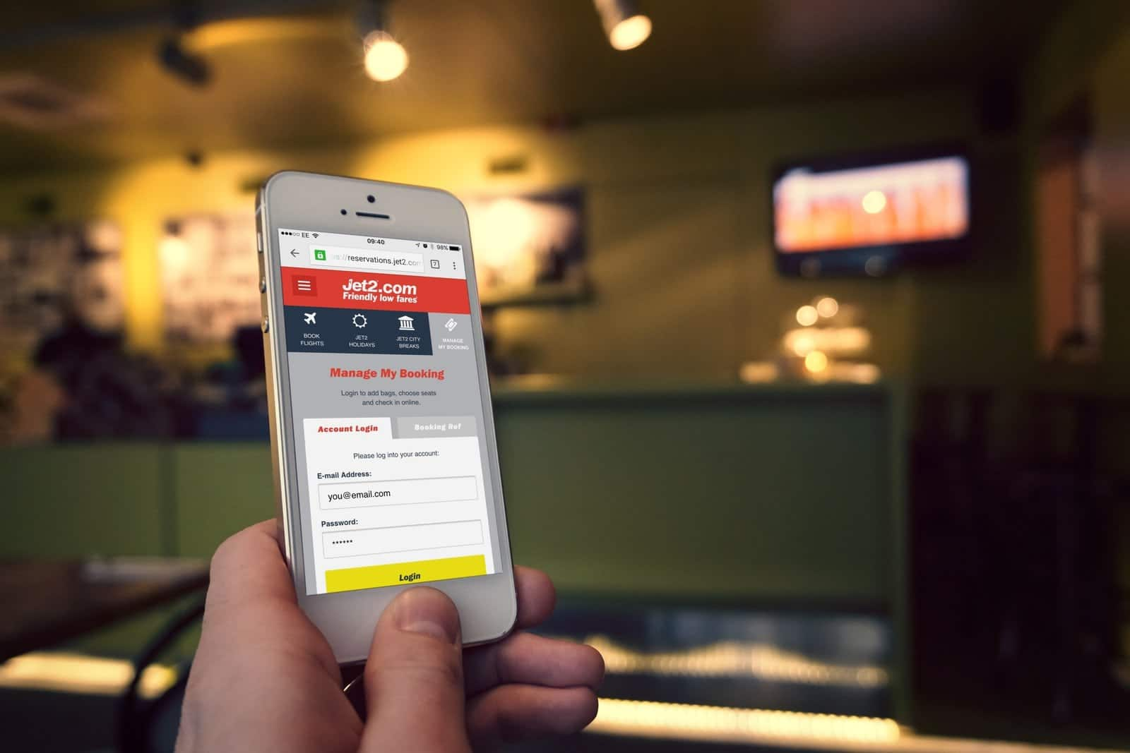 Website Design for Jet2 Mobile Site (MMB)