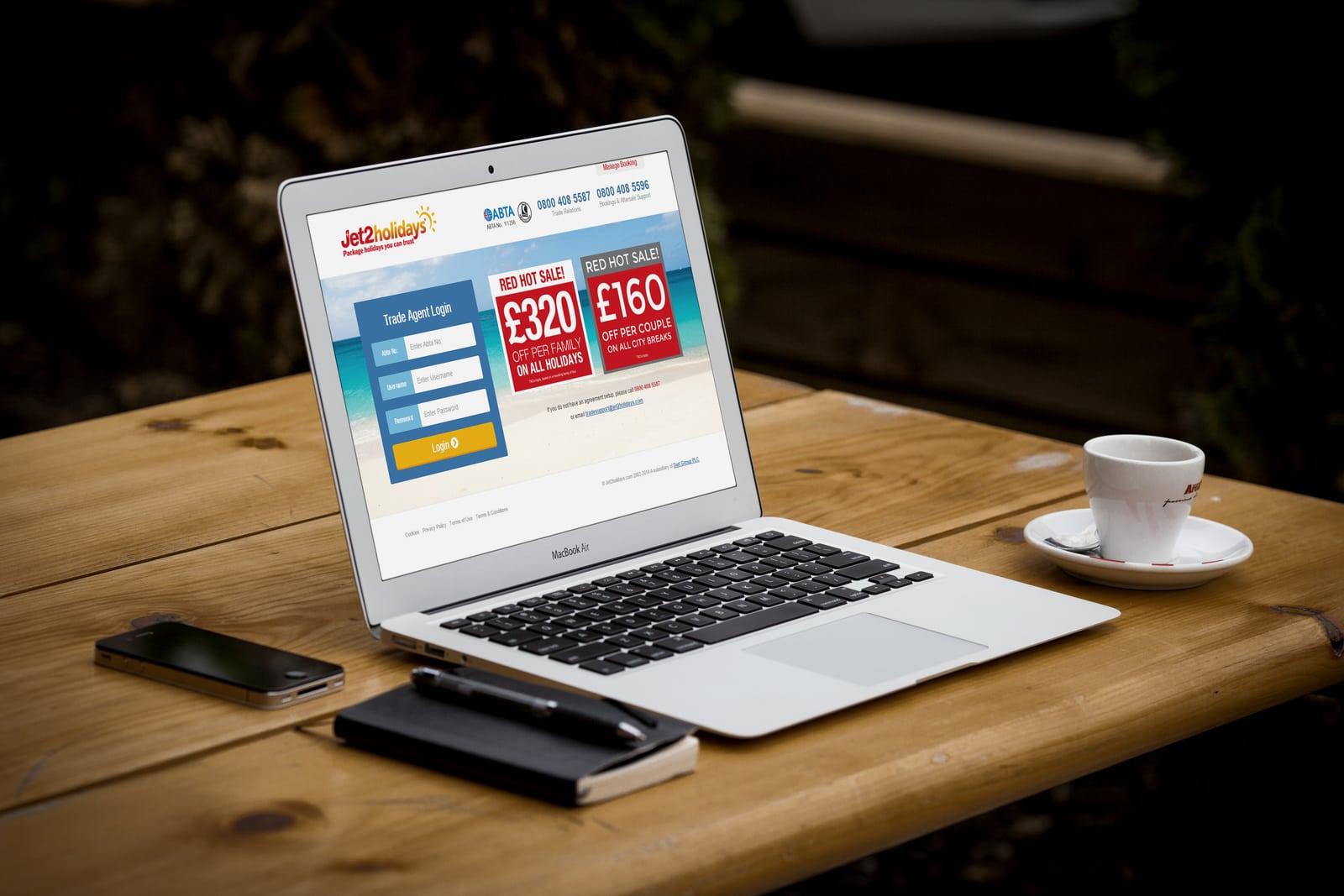 Website Design for Jet2 Holidays Tradesite