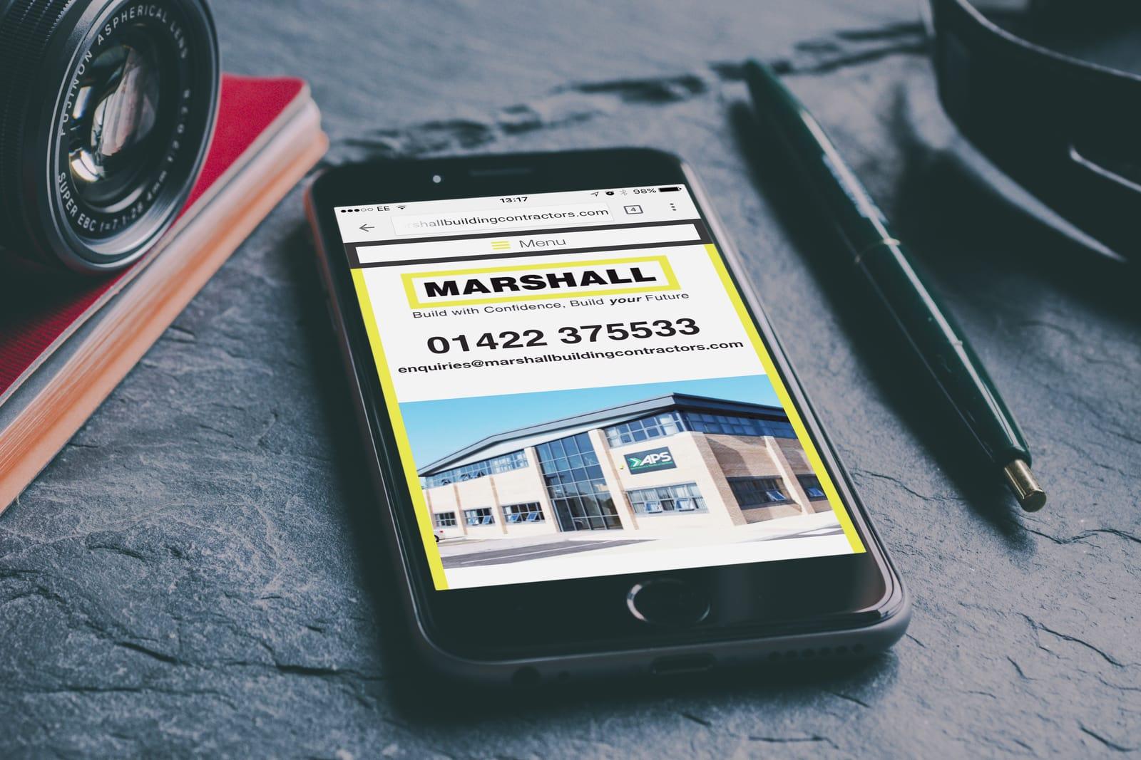 Website Design for Marshall Building Contractors