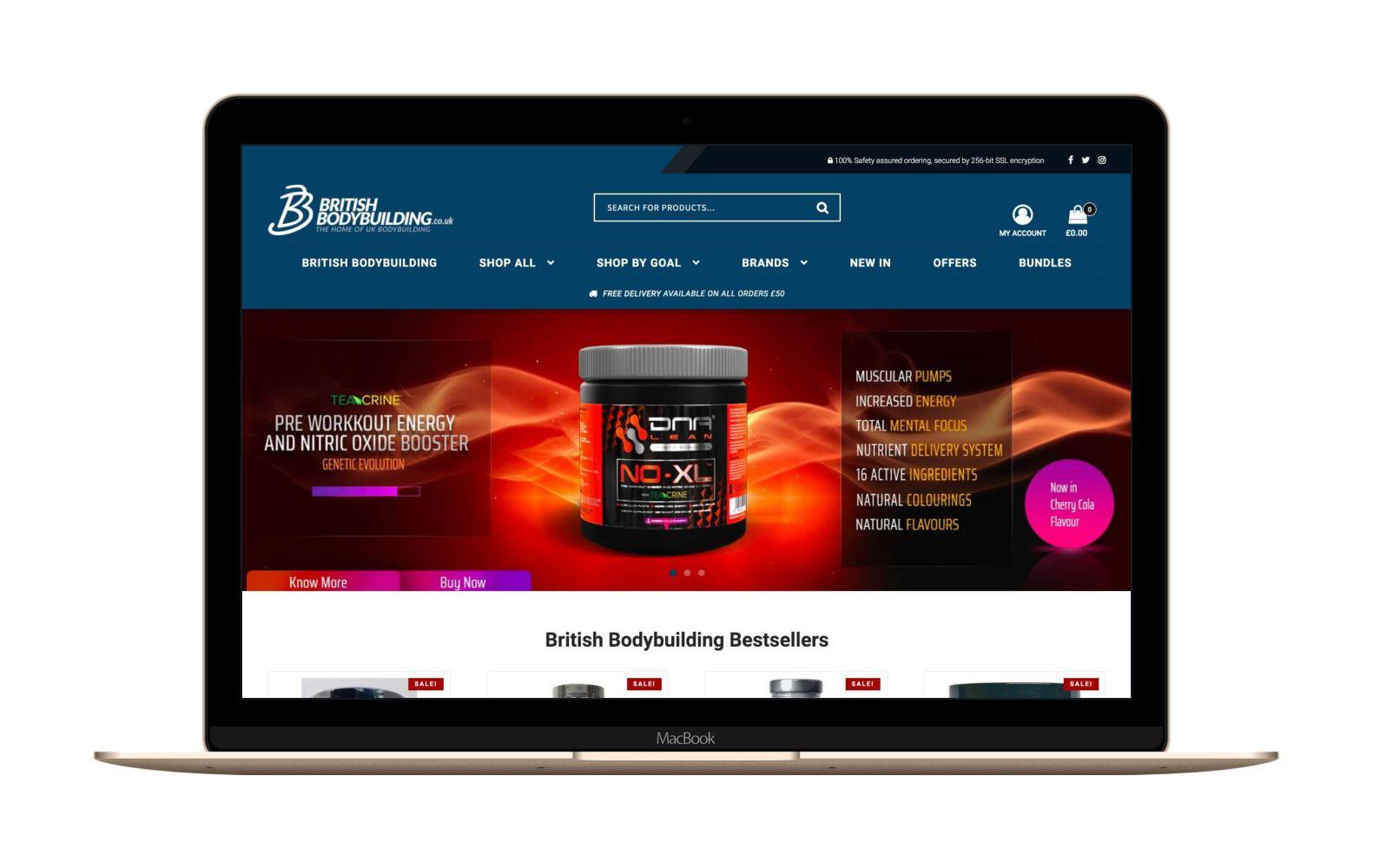 Website Design for British Bodybuilding