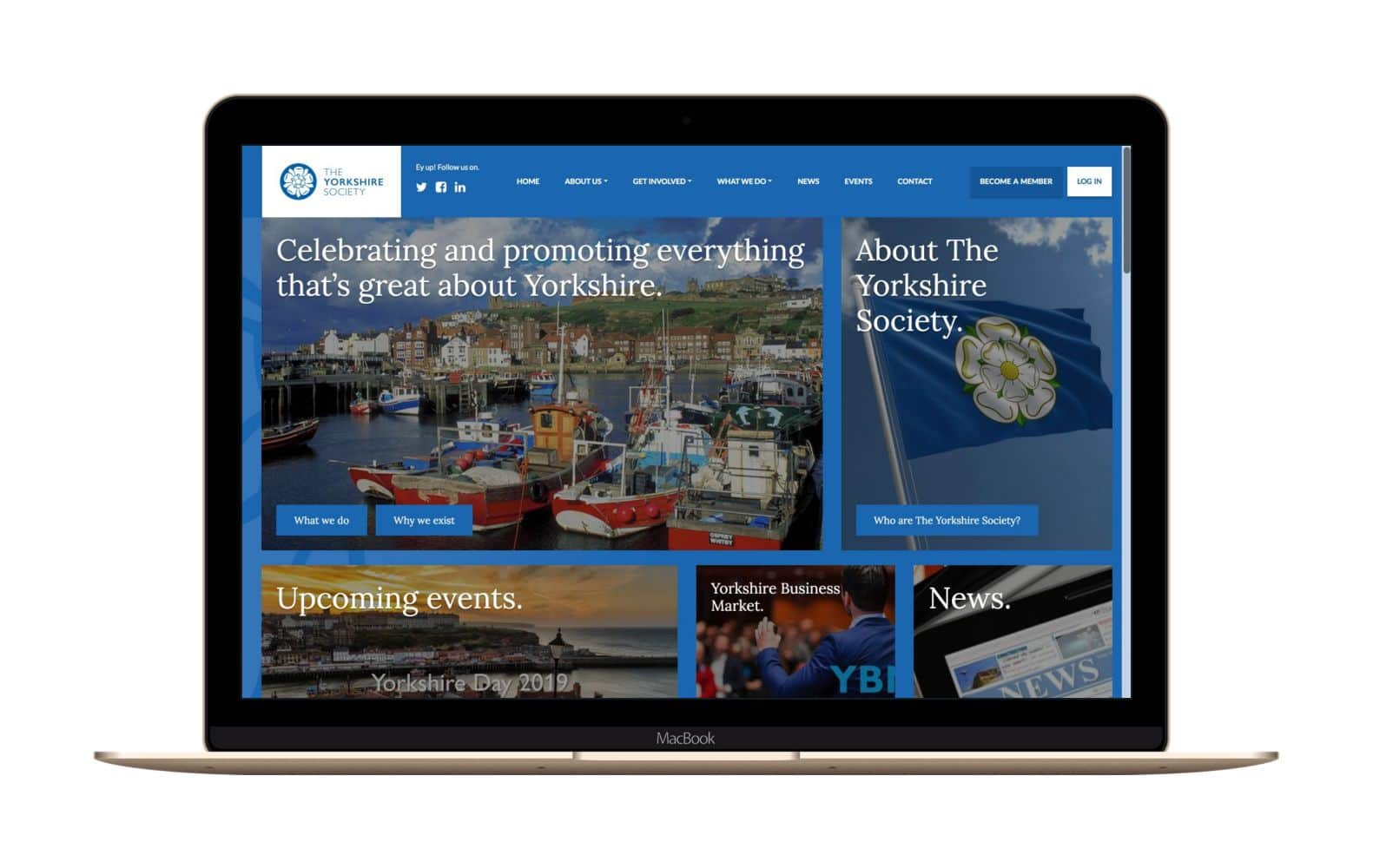 Website Design for The Yorkshire Society