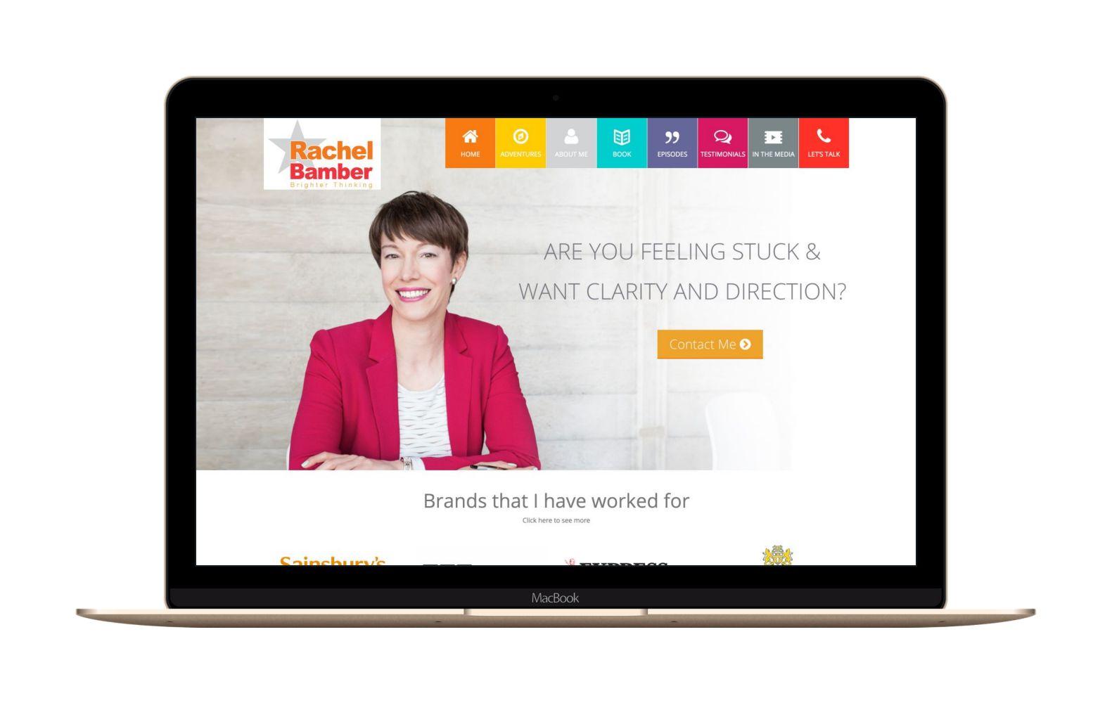 Website Design for Rachel Bamber