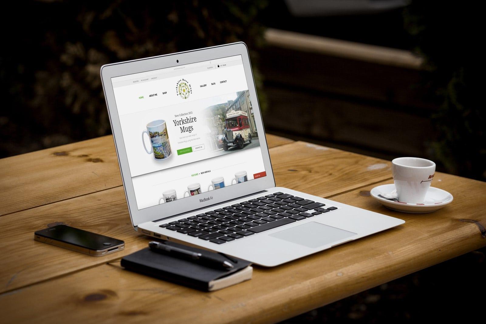Website Design for Yorkshire Rose Mugs