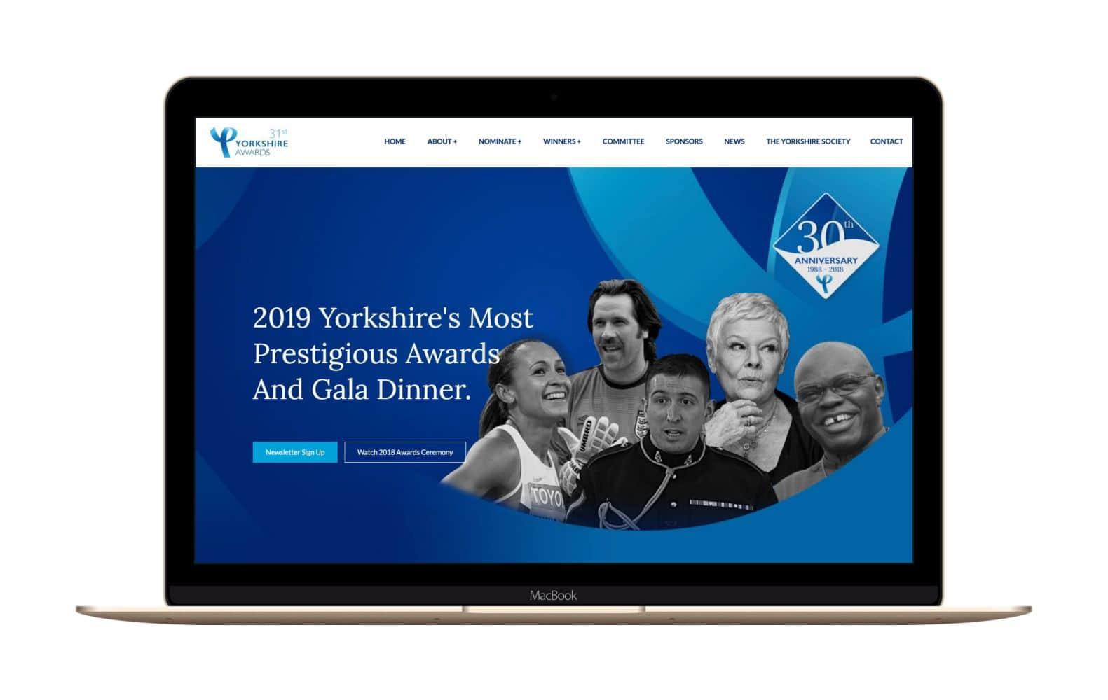 Website Design for Yorkshire Awards