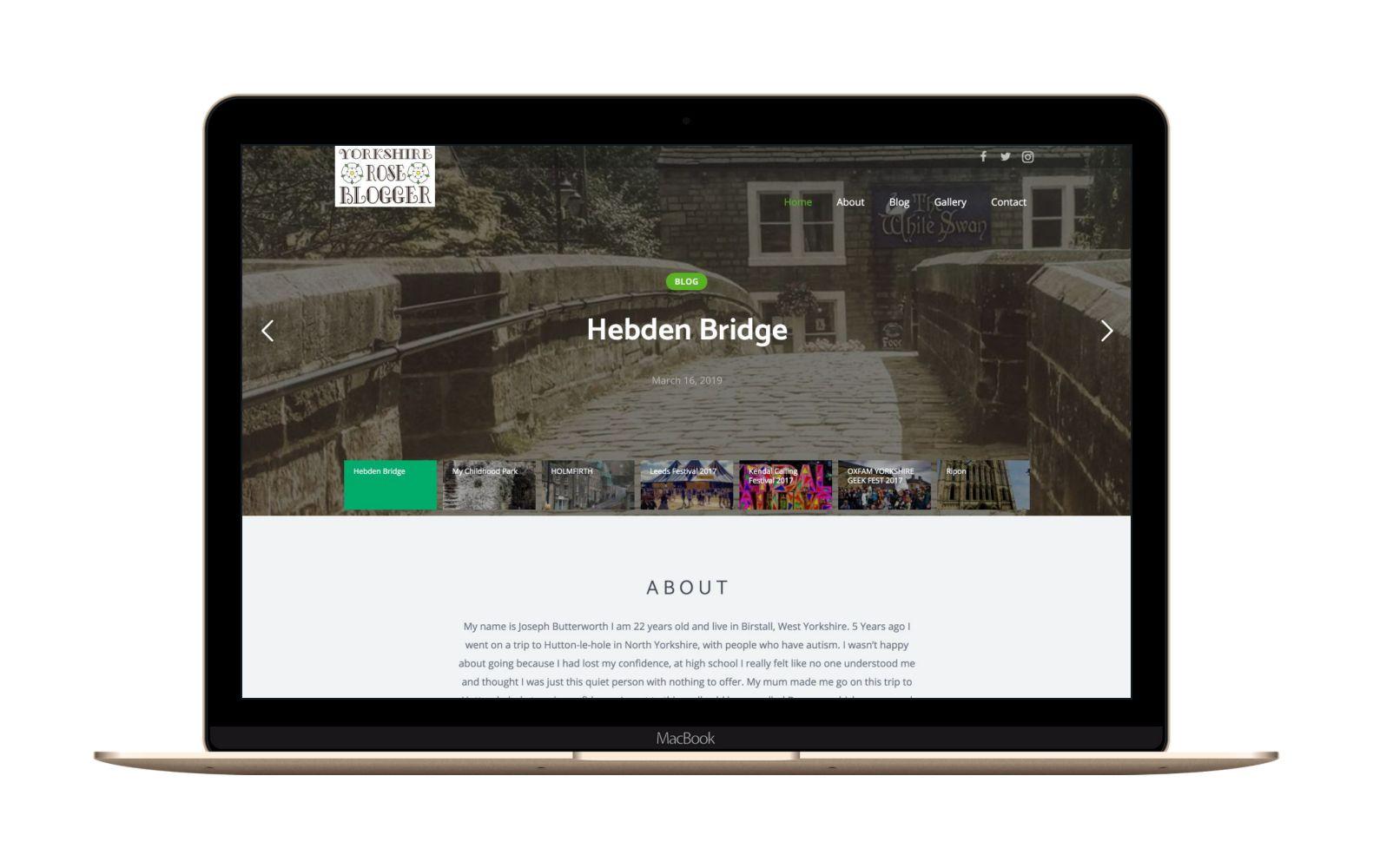 Website Design for Yorkshire Rose Blogger
