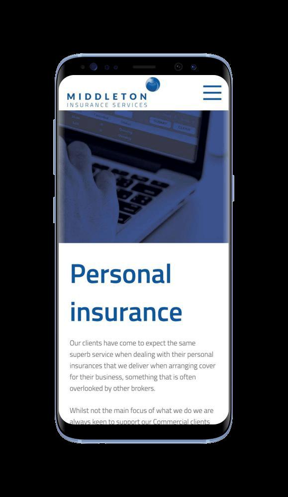Bespoke WordPress Website for Middleton Insurance Services