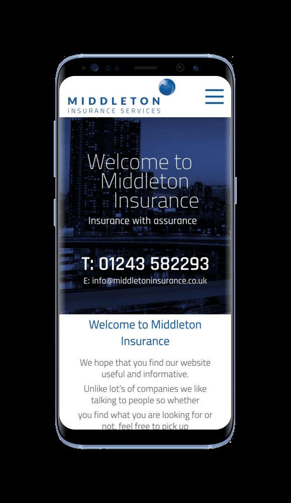 WordPress Design for Middleton Insurance Services