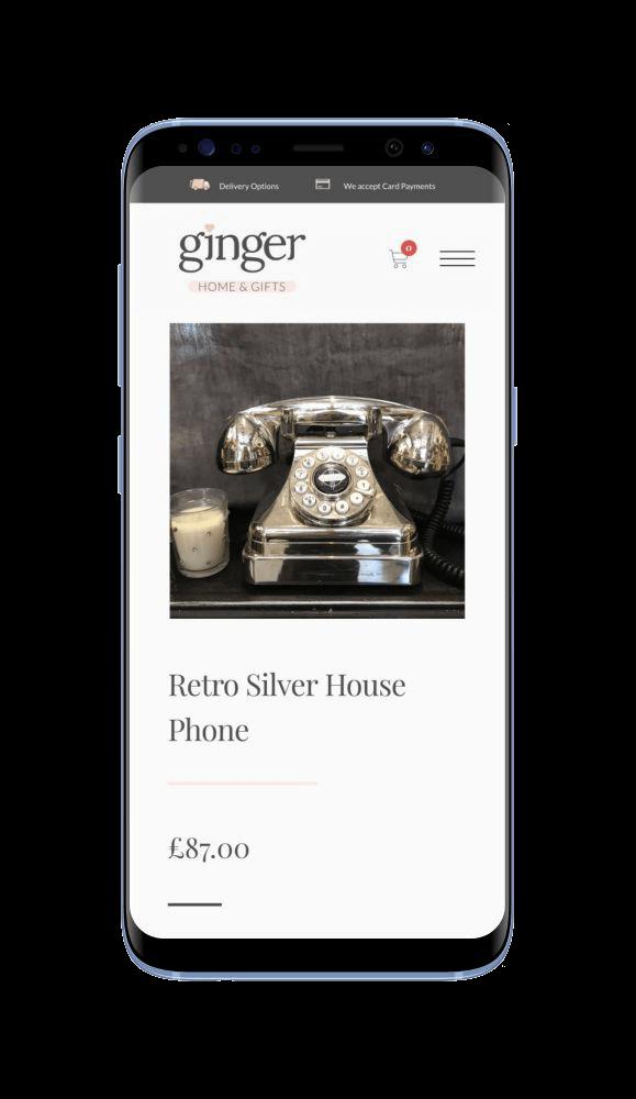 Bespoke WordPress Website for Ginger Home & Gifts