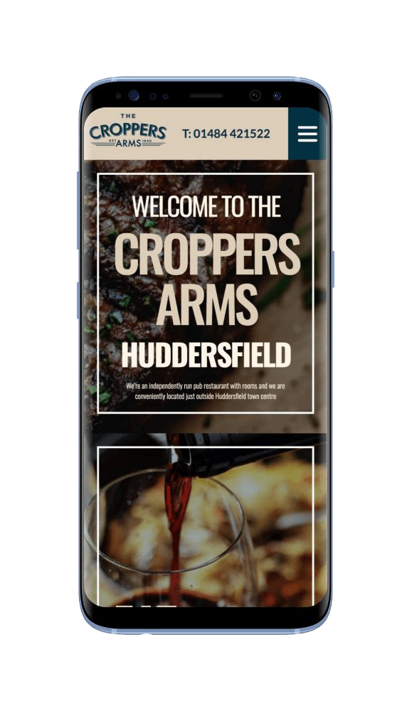 WordPress Design for Croppers Arms