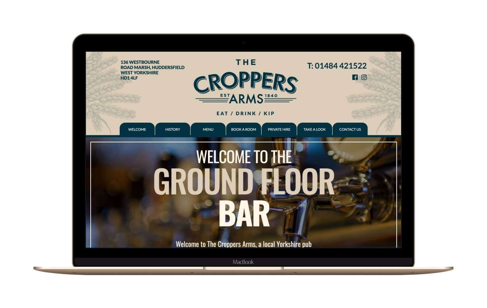 Website Design for Croppers Arms