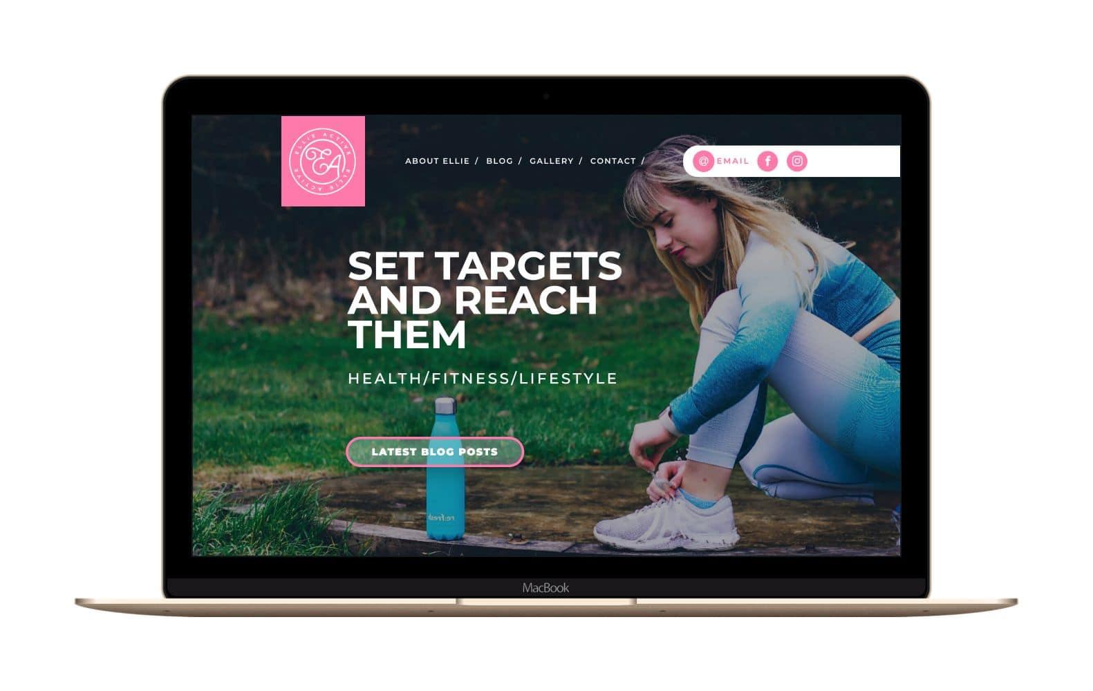 Website Design for Ellie Active
