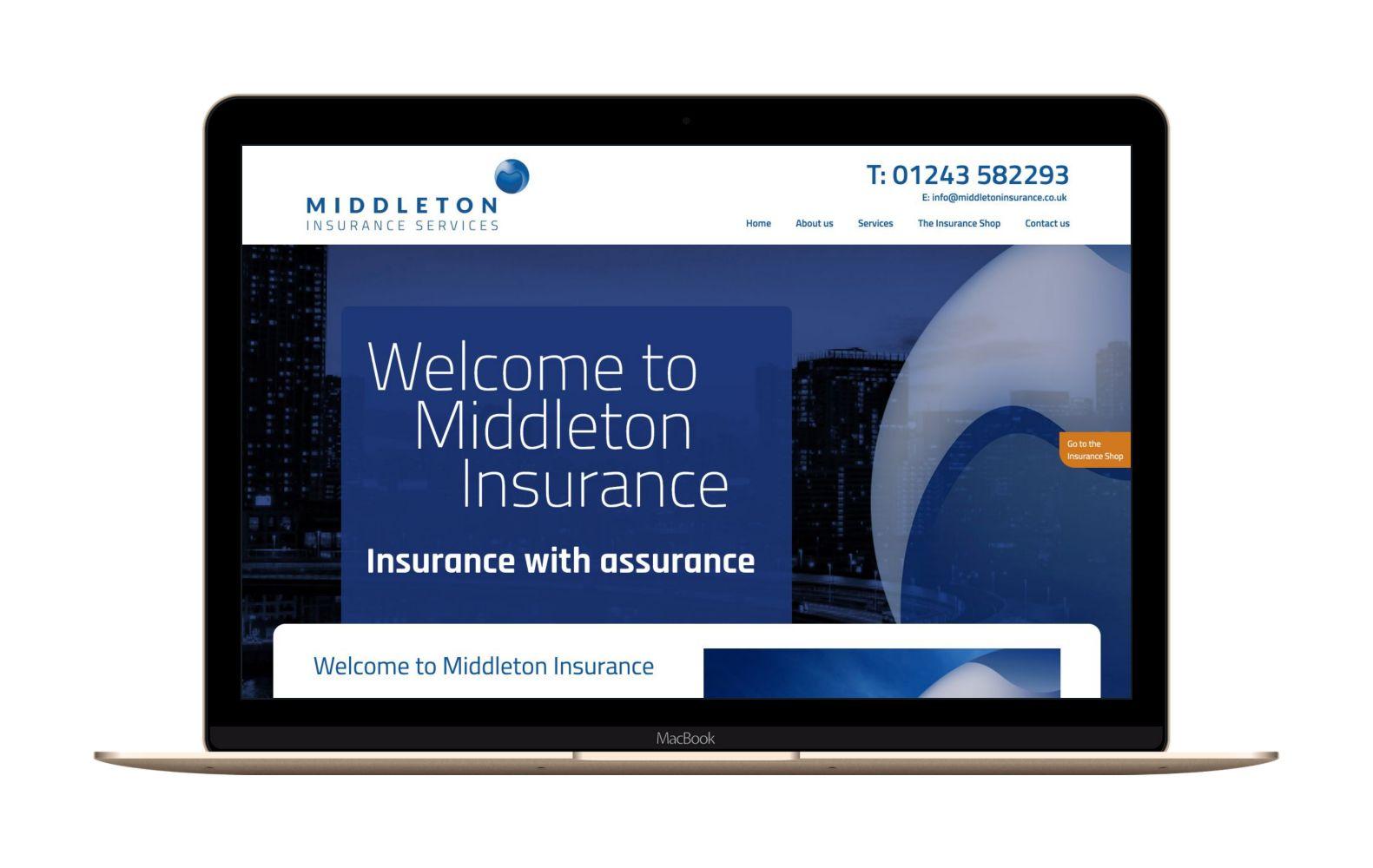 Website Design for Middleton Insurance Services