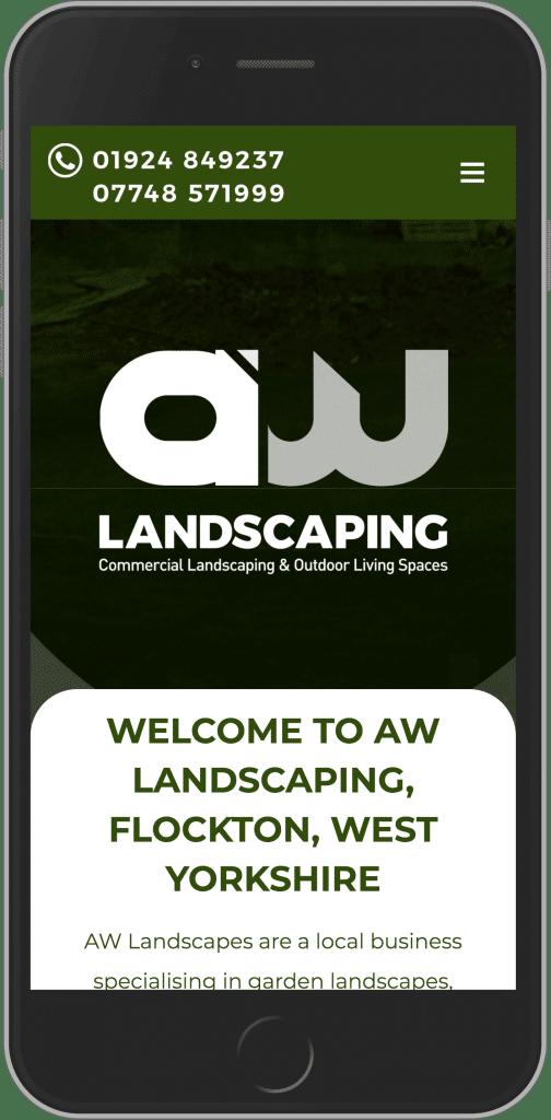 WordPress Design for AW Landscaping