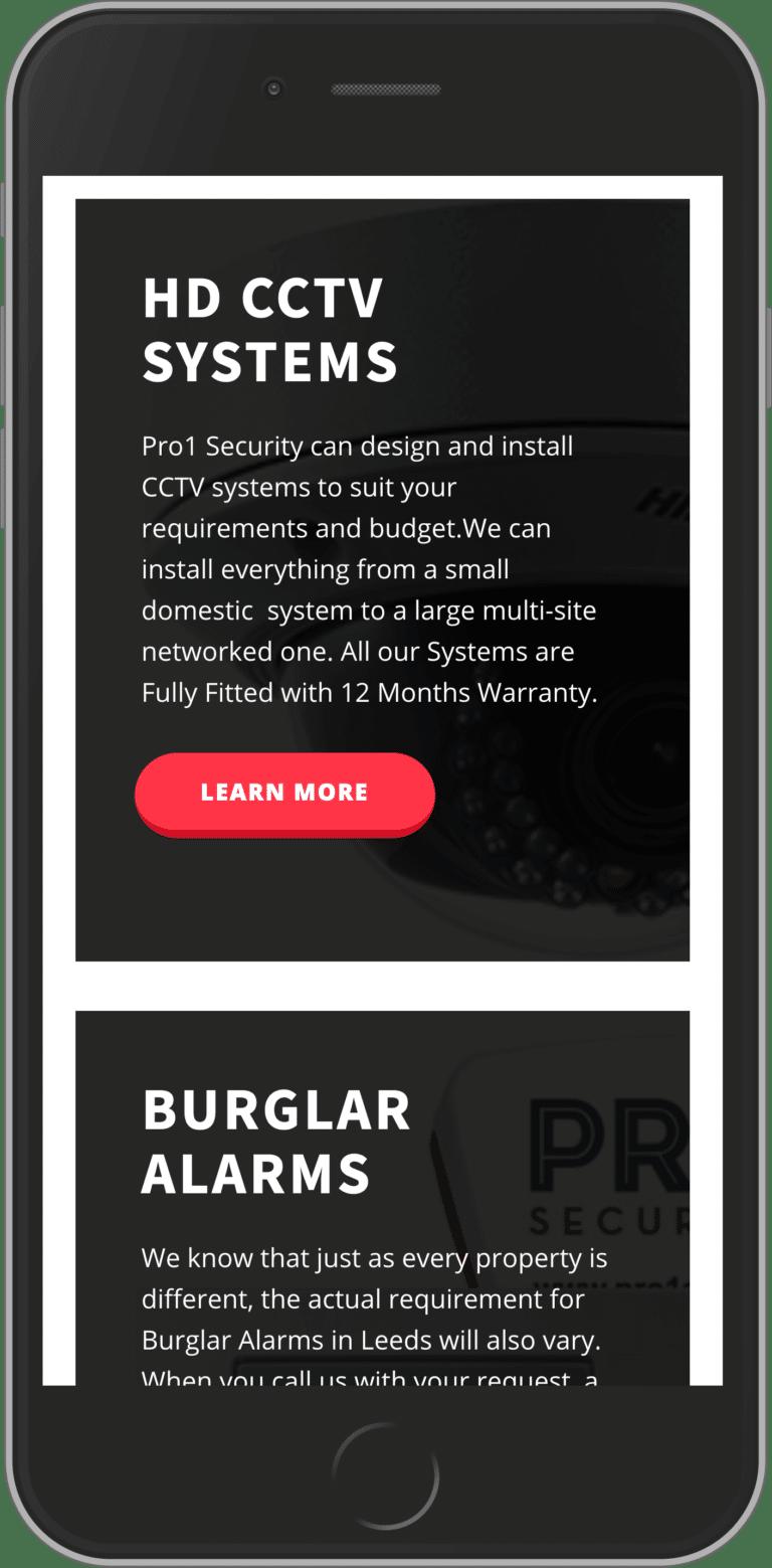 Bespoke WordPress Website for Pro 1 Security