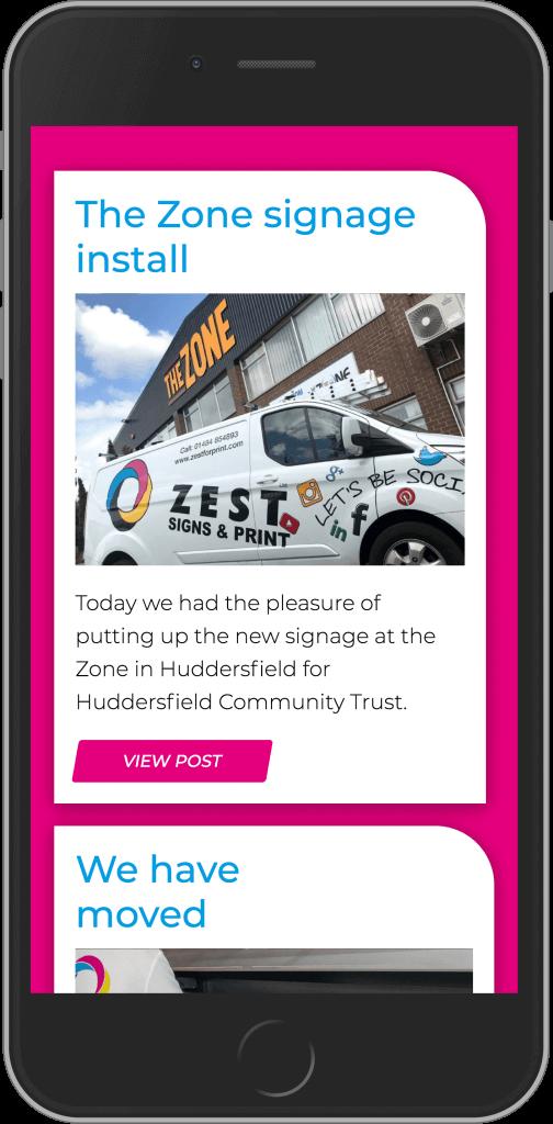 Bespoke WordPress Website for Zest for Print