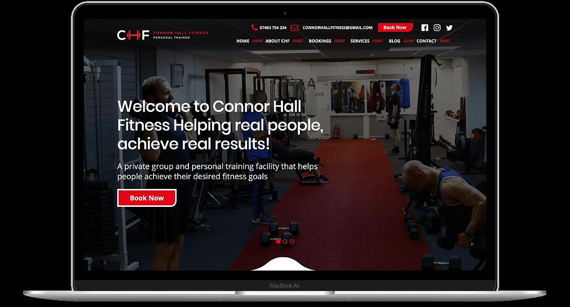 Website Design for Connor Hall Fitness