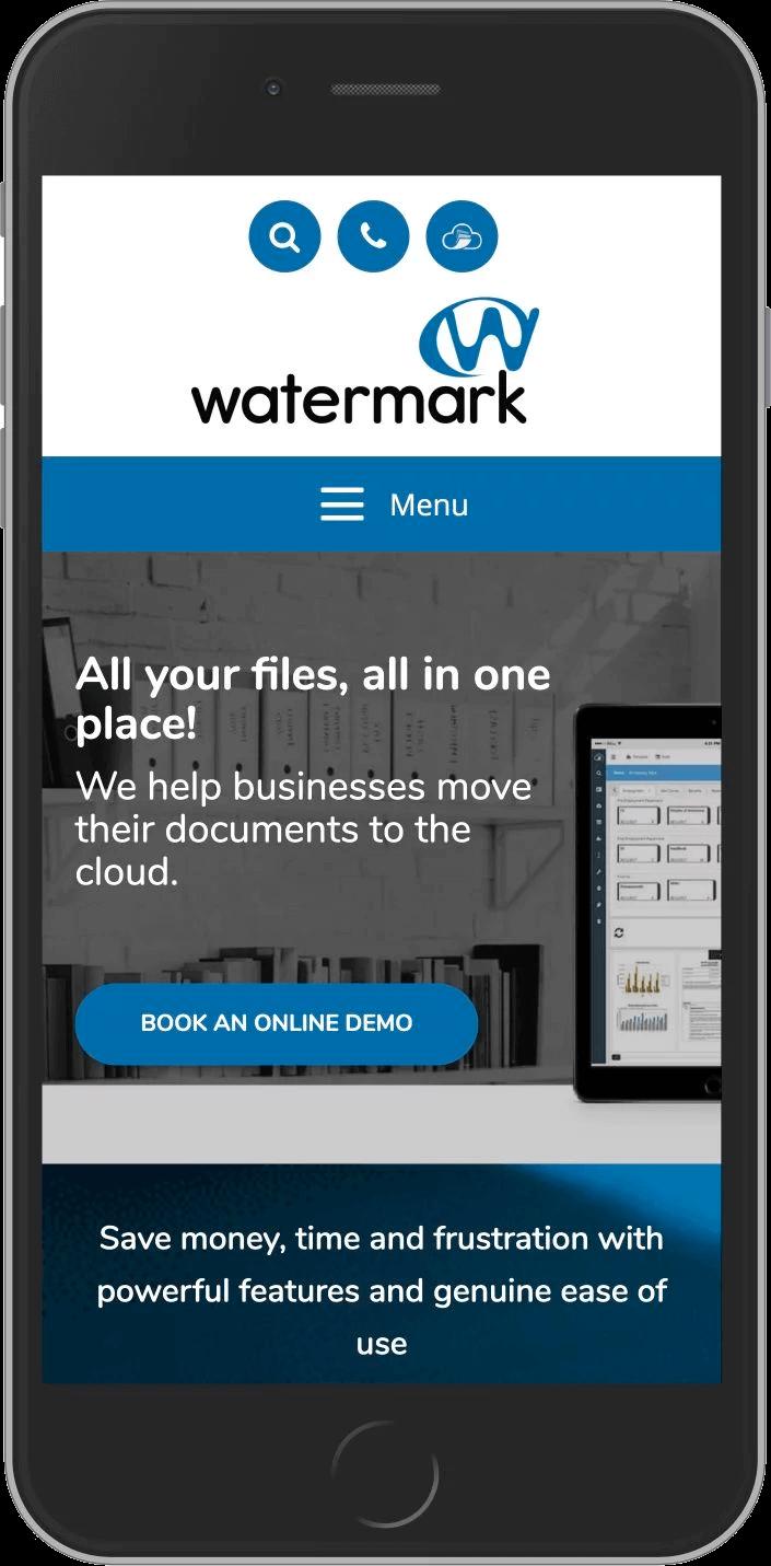 WordPress Design for Watermark Tech