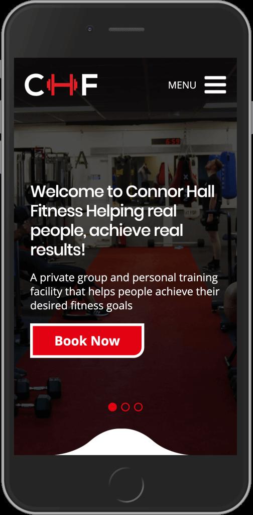 WordPress Design for Connor Hall Fitness