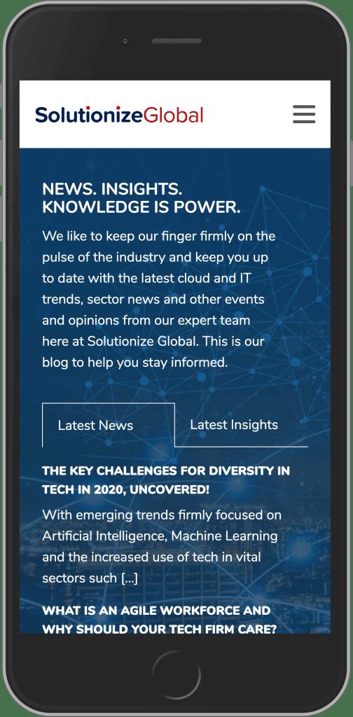 WordPress Developement for Solutionize Global