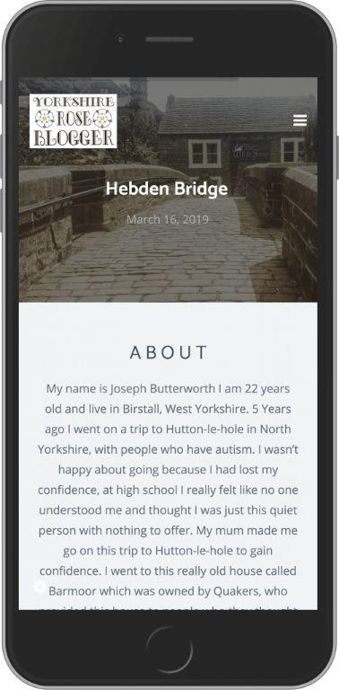 Bespoke WordPress Website for Yorkshire Rose Blogger