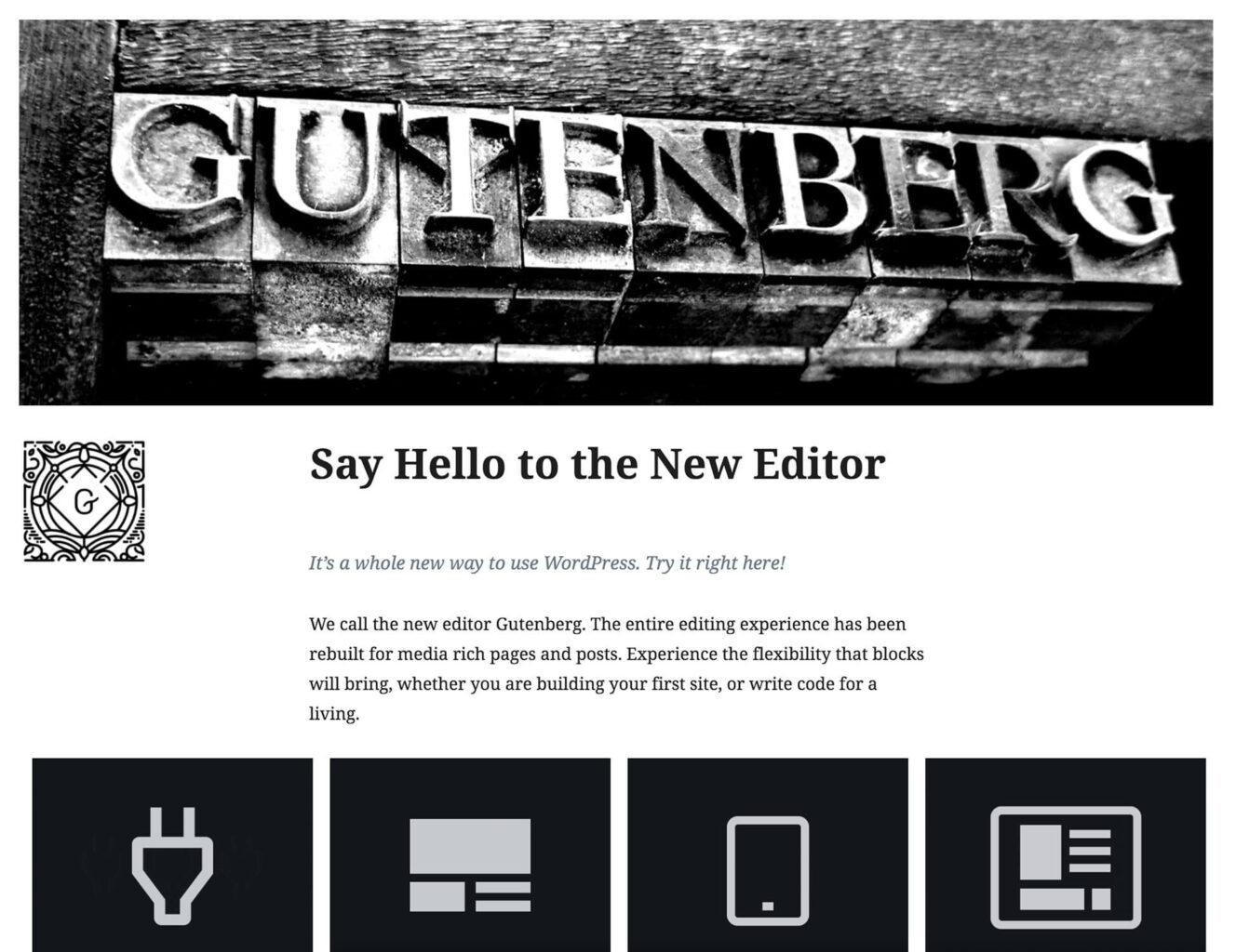 Say hello to the new WordPress editor - Gutenberg.