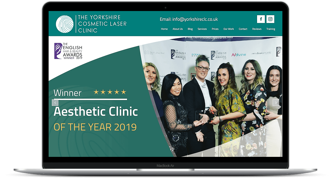 Website Design for The Yorkshire Cosmetic Laser Clinic
