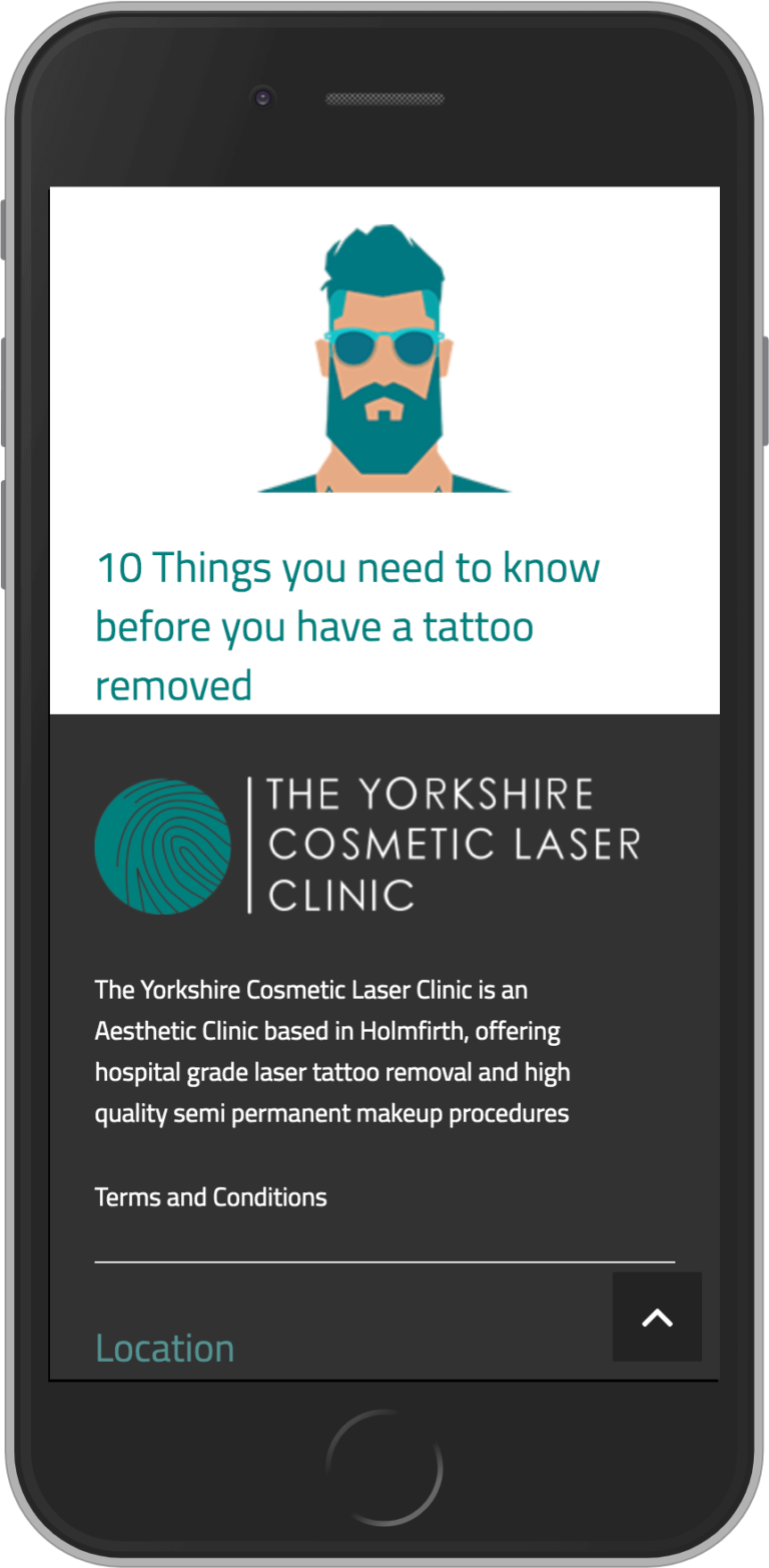 Bespoke WordPress Website for The Yorkshire Cosmetic Laser Clinic