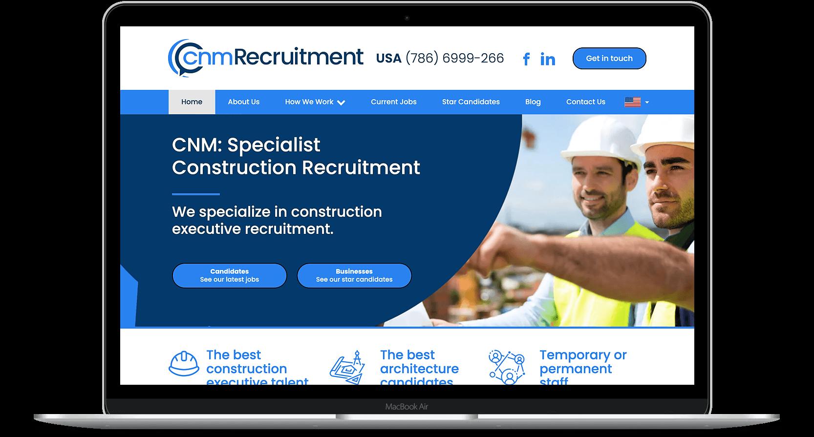 Website Design for CNM Recruitment